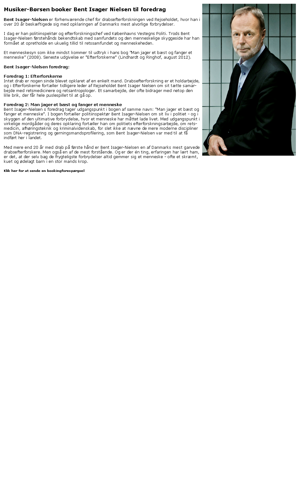Bent Isager-Nielsen - skyggesideforedragsholder