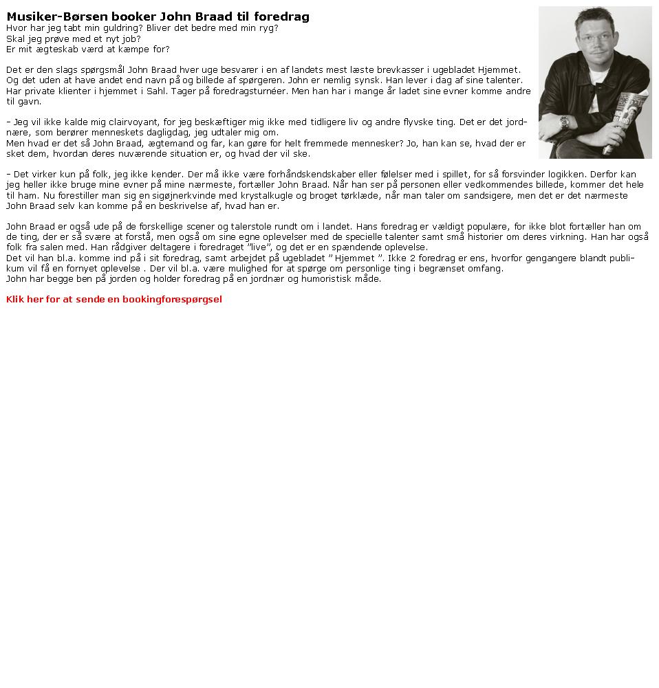 John Braad - jordnære foredrag - formidling-bestilling John Braad