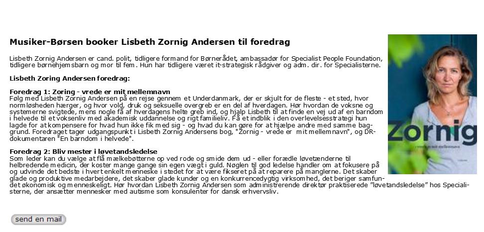 Lisbeth Zornig Andersen - løvetandsledelse - foredrag