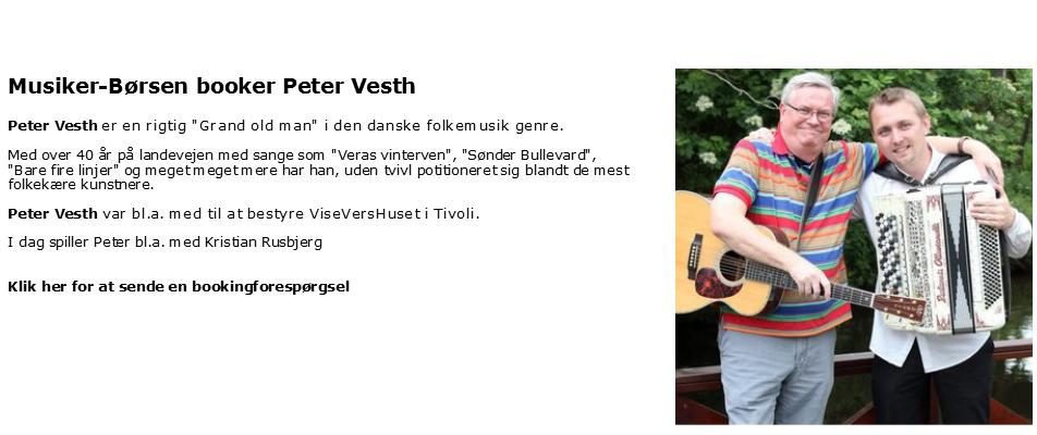Bestil Peter Vesth - Grand old man i folkemusik: Peter Vesth