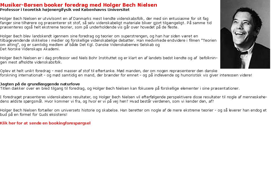 ::Holger Bech Nielsen - dynamikforedrag::