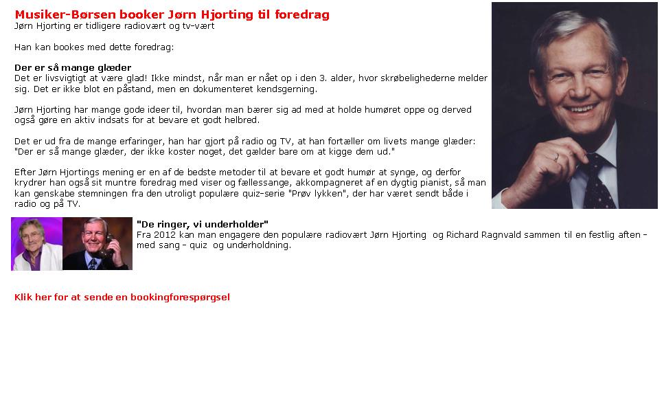 Jørn Hjorting - livsmodsoplæg - æterhistorie