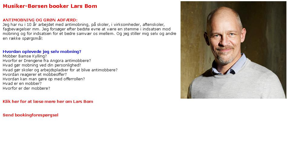 Lars Bom: Lyt til hinanden og sig nej til mobning