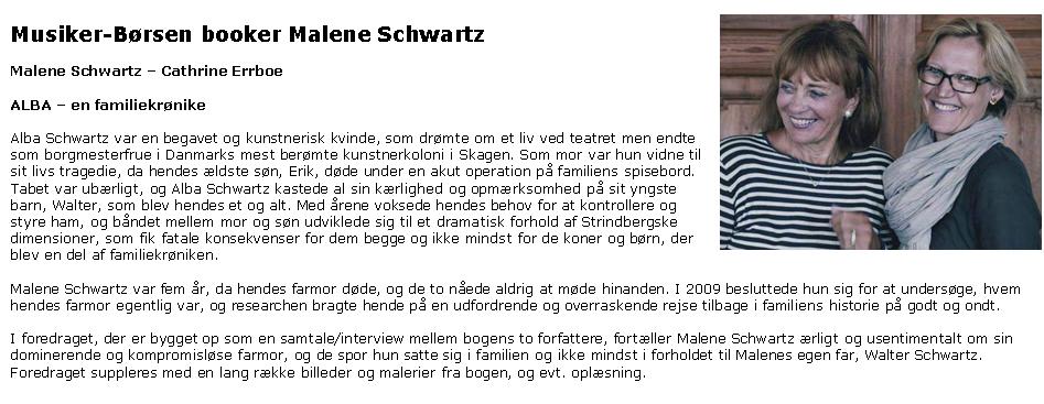 ::Malene Schwartz - teaterforedragsholder::