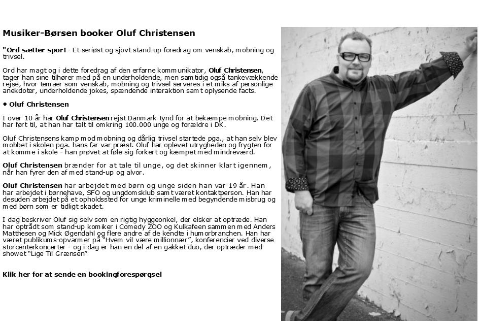 ::Oluf Christensen - mobbeforedrag::